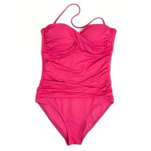 L I Z Claiborne • Pink Strapless Swimsuit